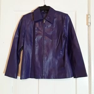 Worthington Purple Leather Jacket